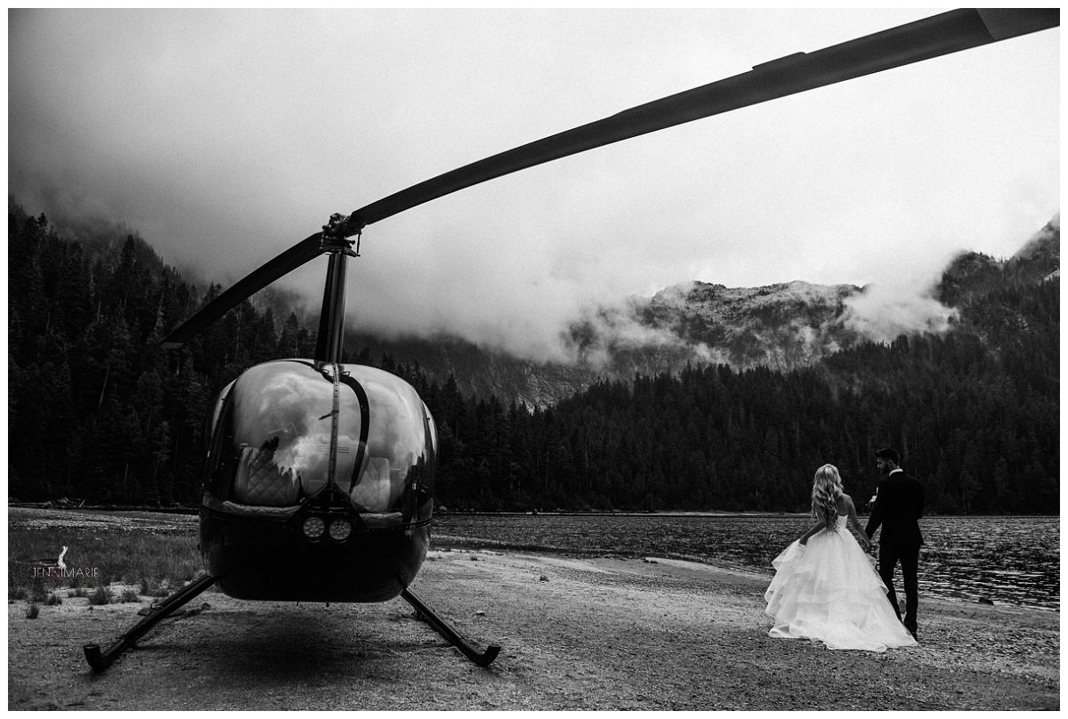 Sky Helicopter wedding