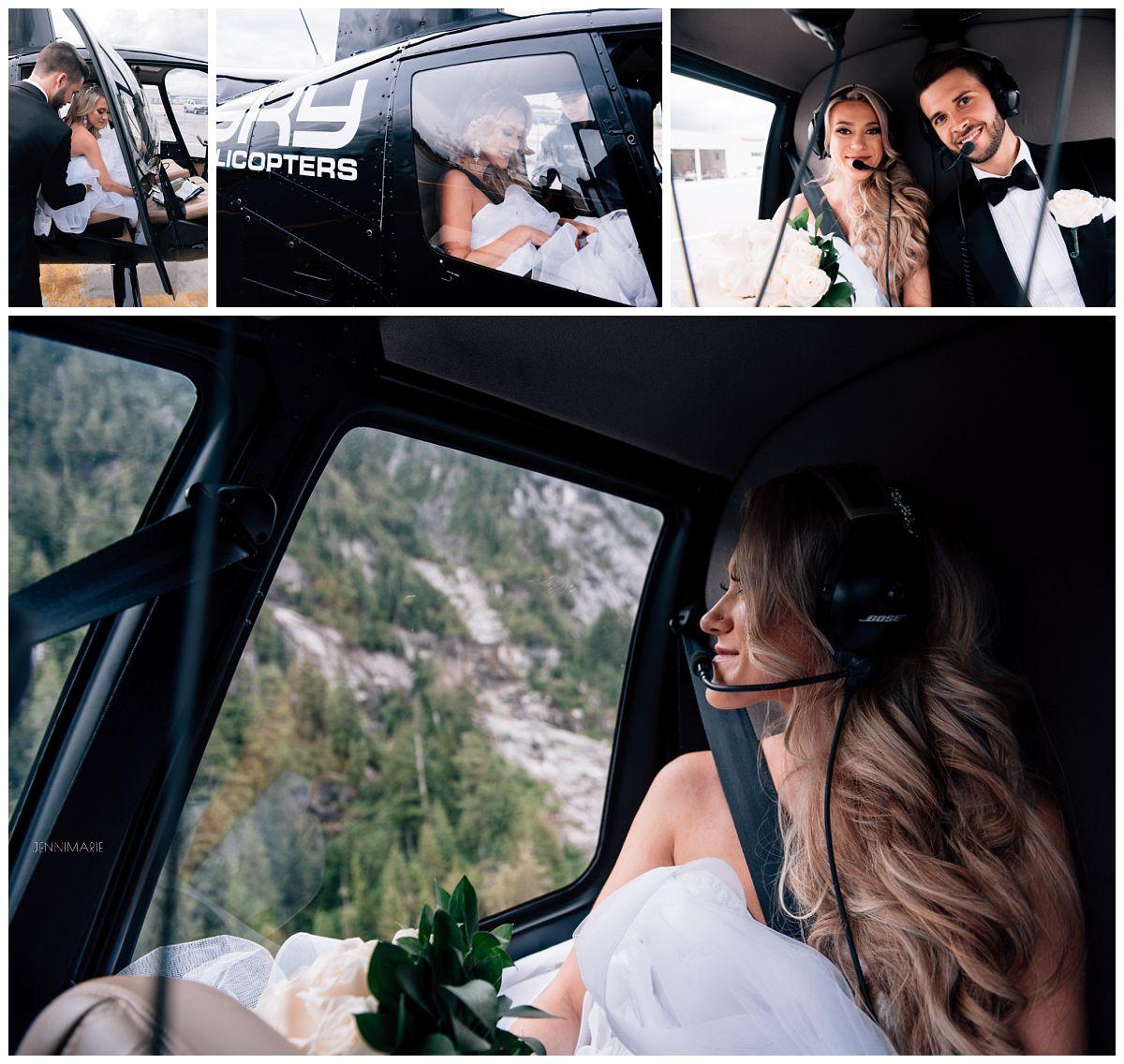 Sky Helicopter wedding portraits