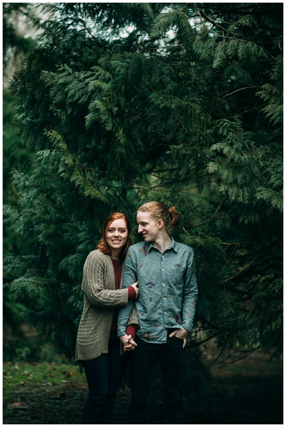 abbotsford engagement in the rain