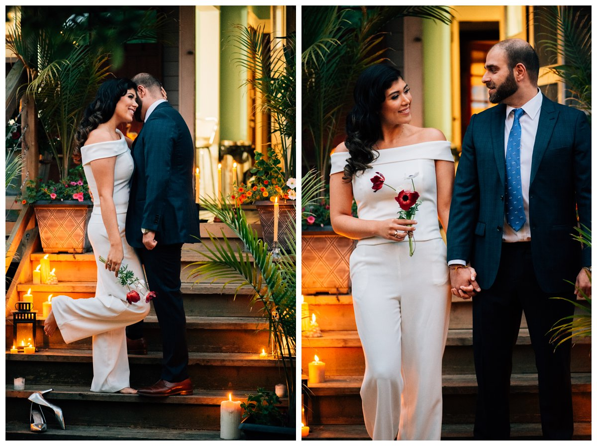 candlelit wedding photos