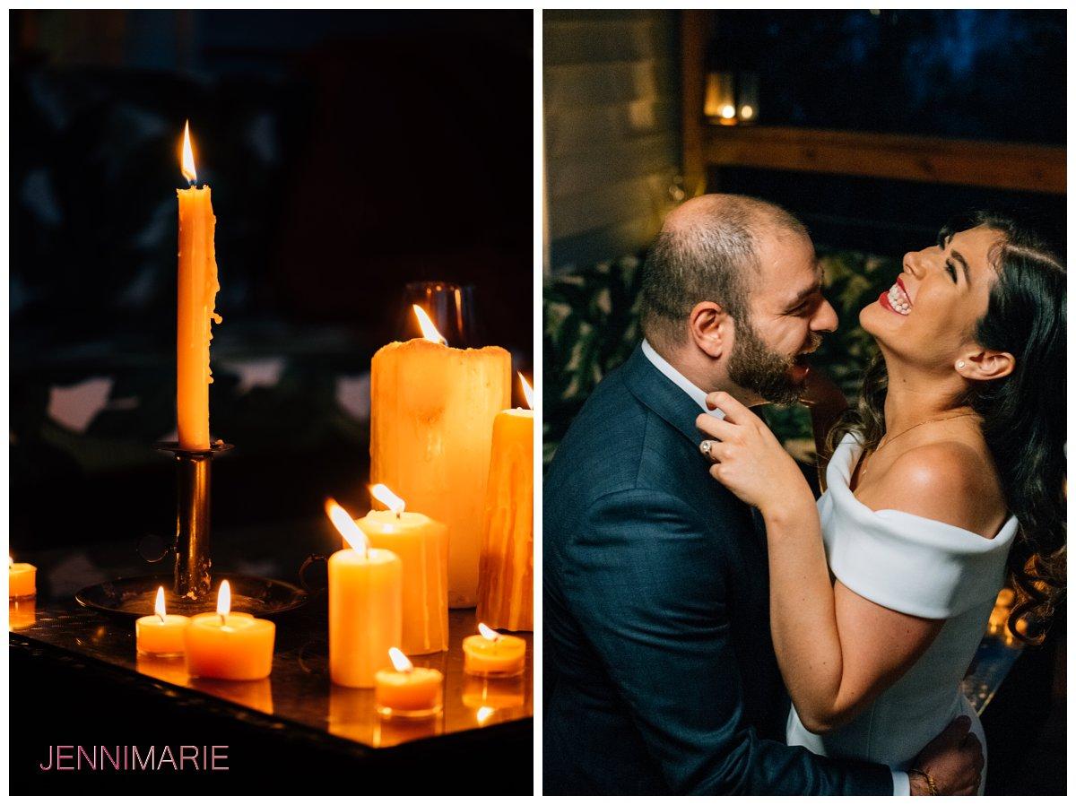 candlelit photo session