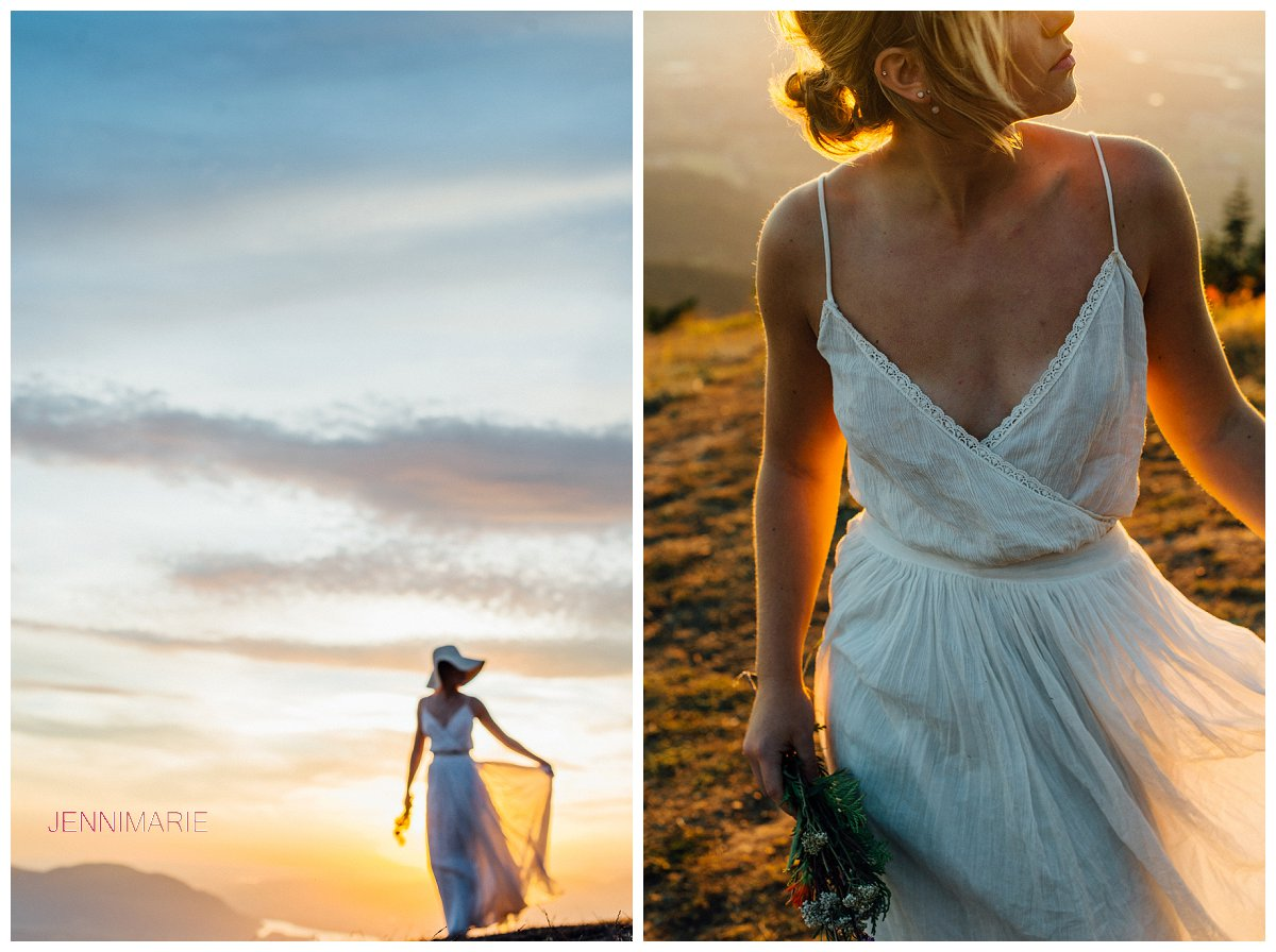 elk mountain bridal portrait