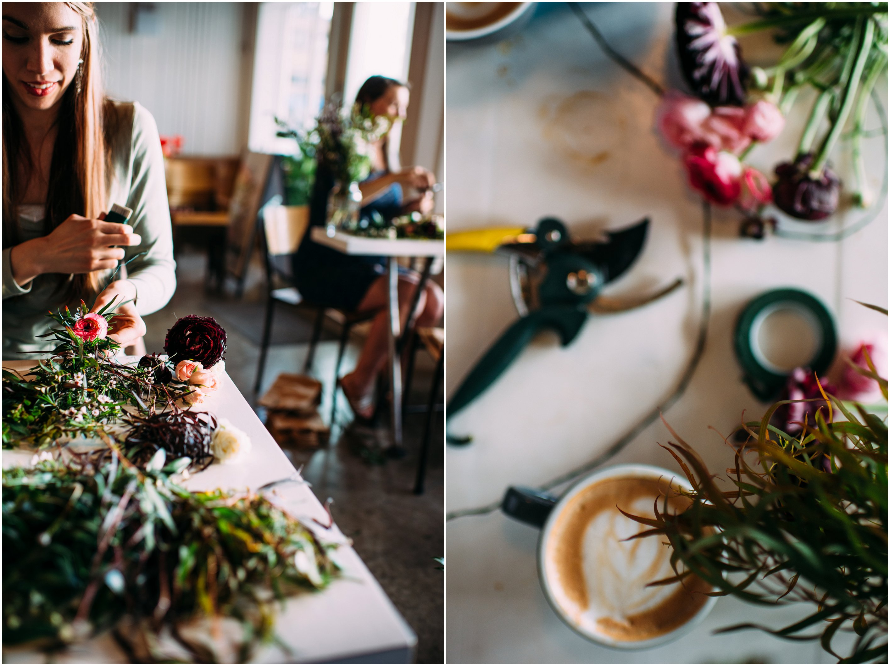 flower crown workshop at confetti floral