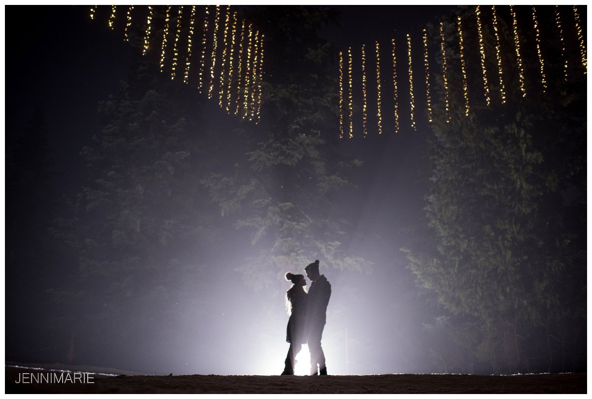 Peak of Christmas Engagement Photos in the Fog