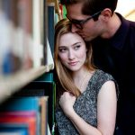 Engaged: John and Charli [In a Library]