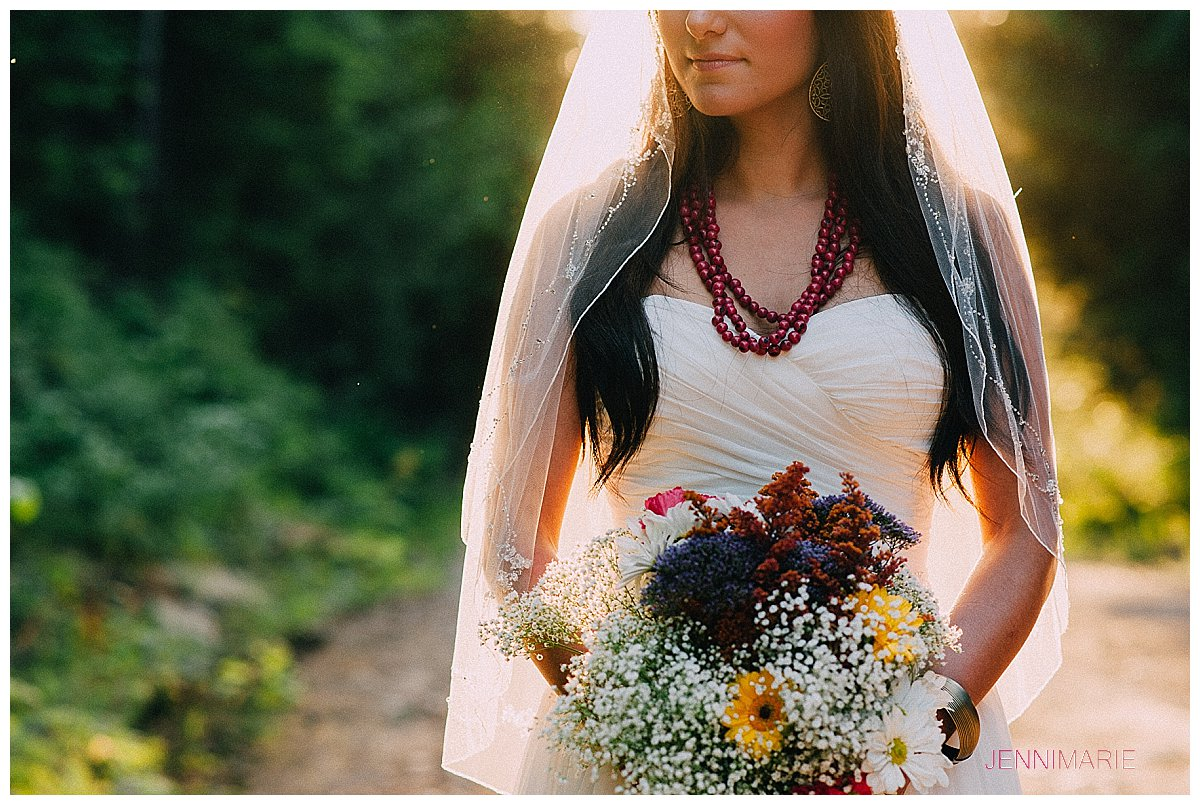 Sumas Mountain Bridal Portrait with a House of Vienna gown