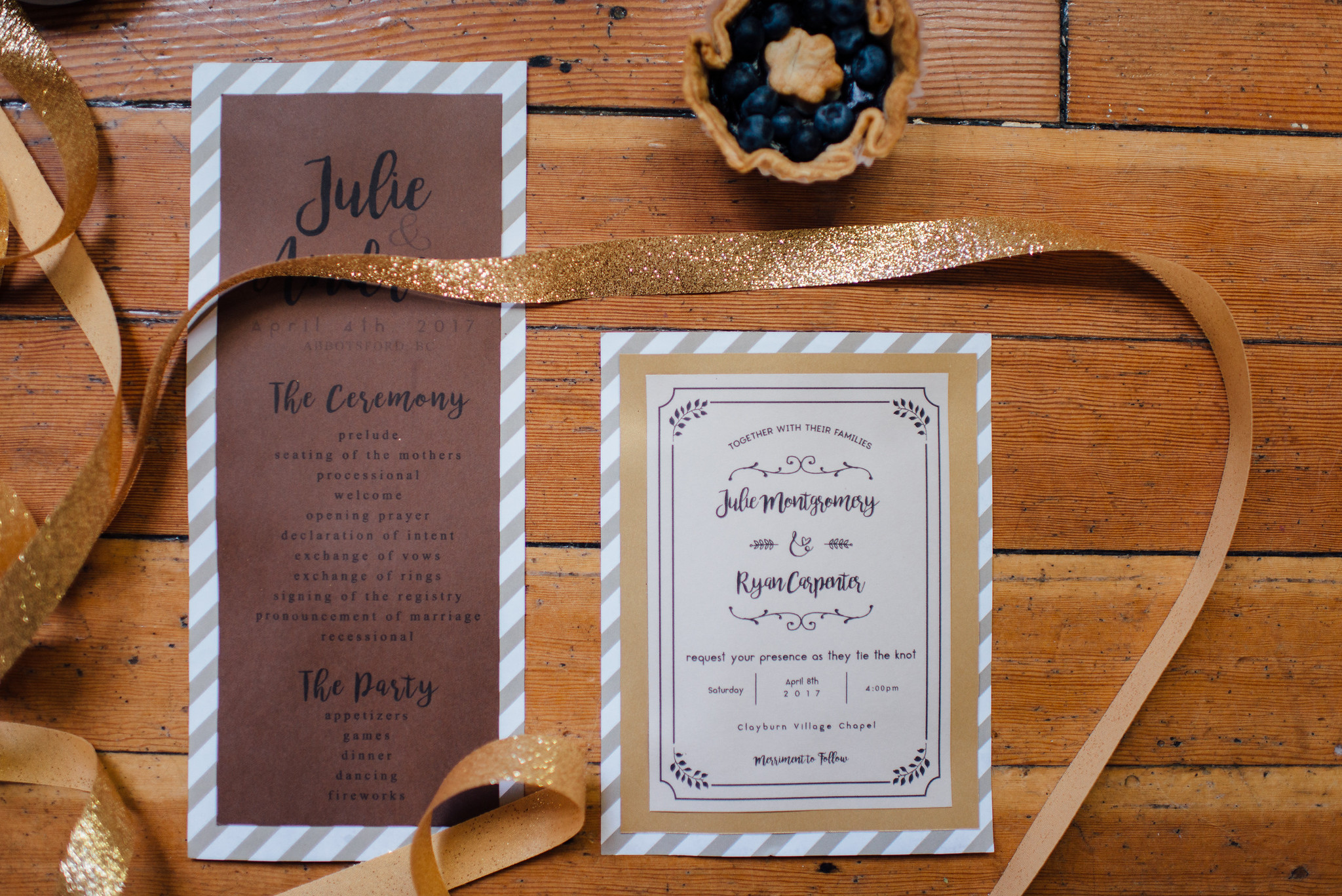 Clayburn village wedding details