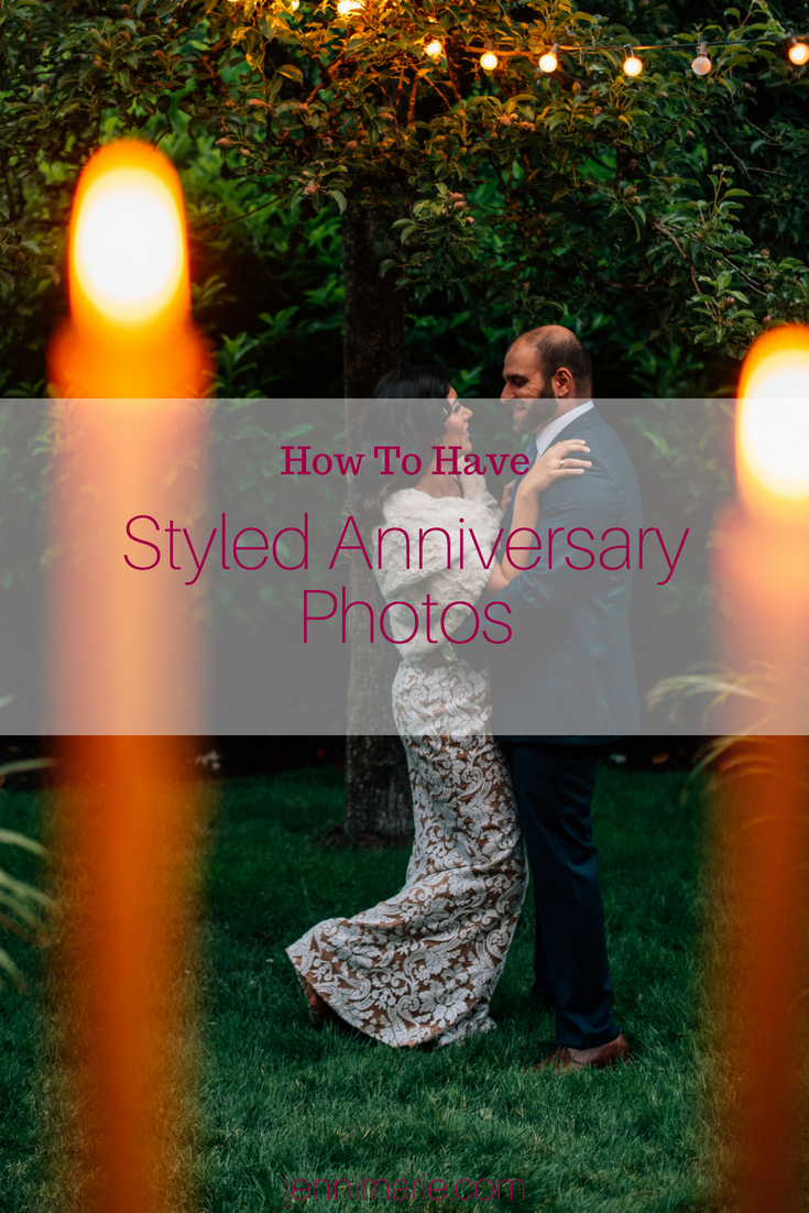How to have Styled Anniversary Photos by Candlelight.