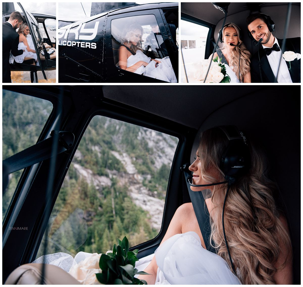 Sky Helicopter wedding portraits