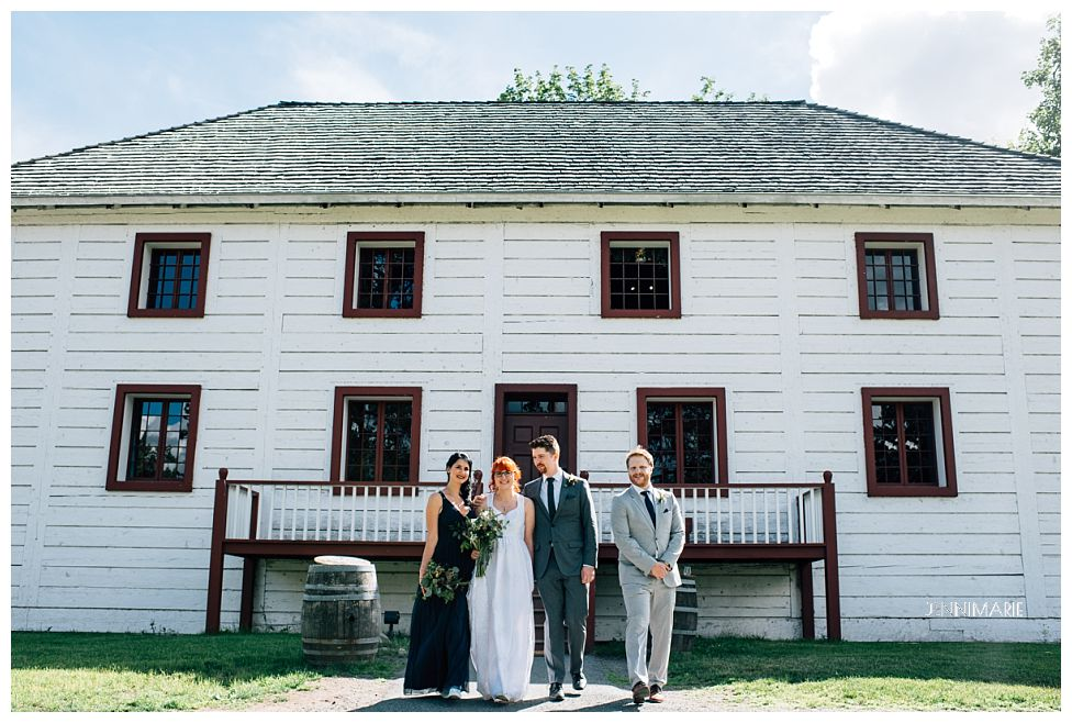 wedding at Fort Langley National Historic Site