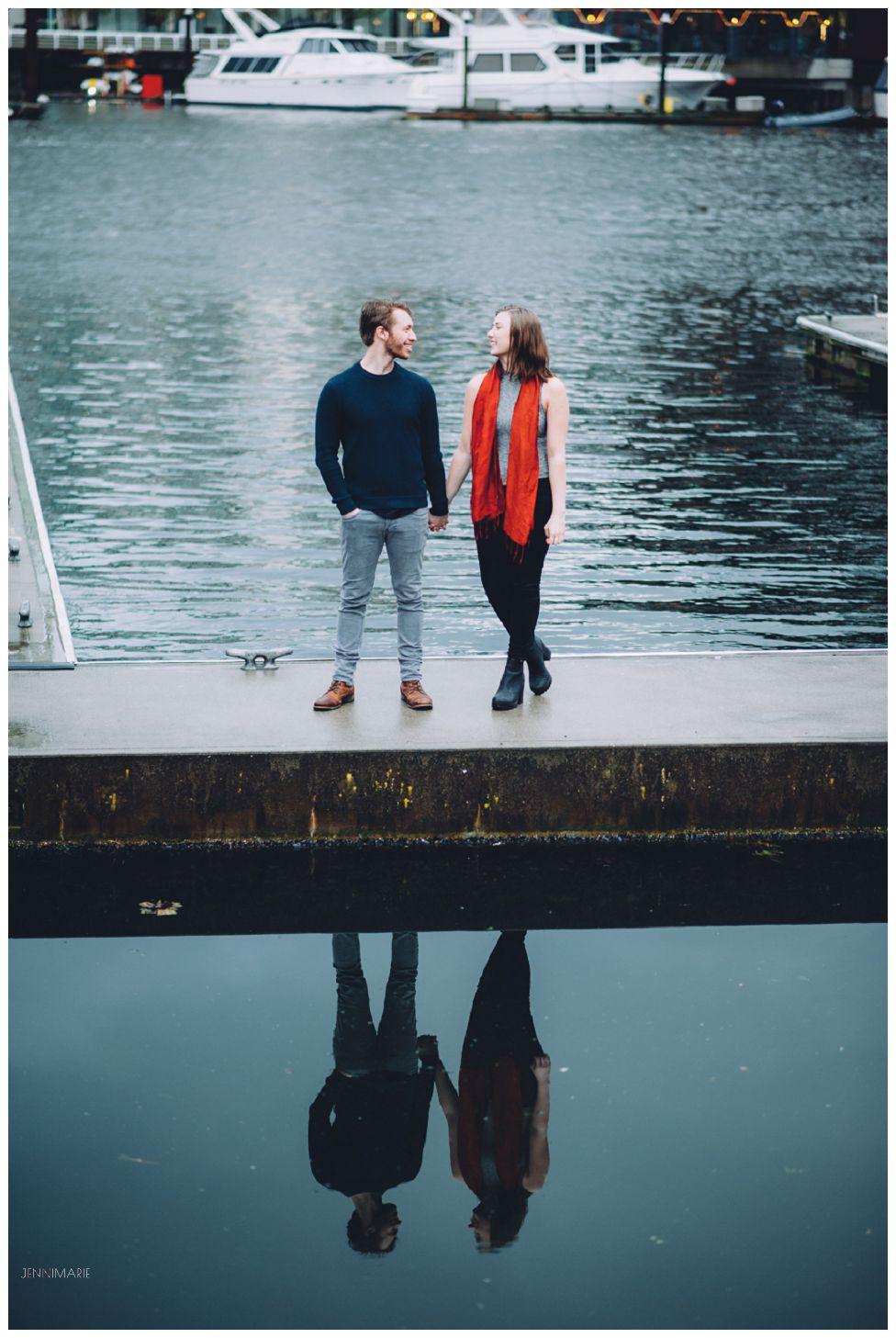 granville island engagement photos
