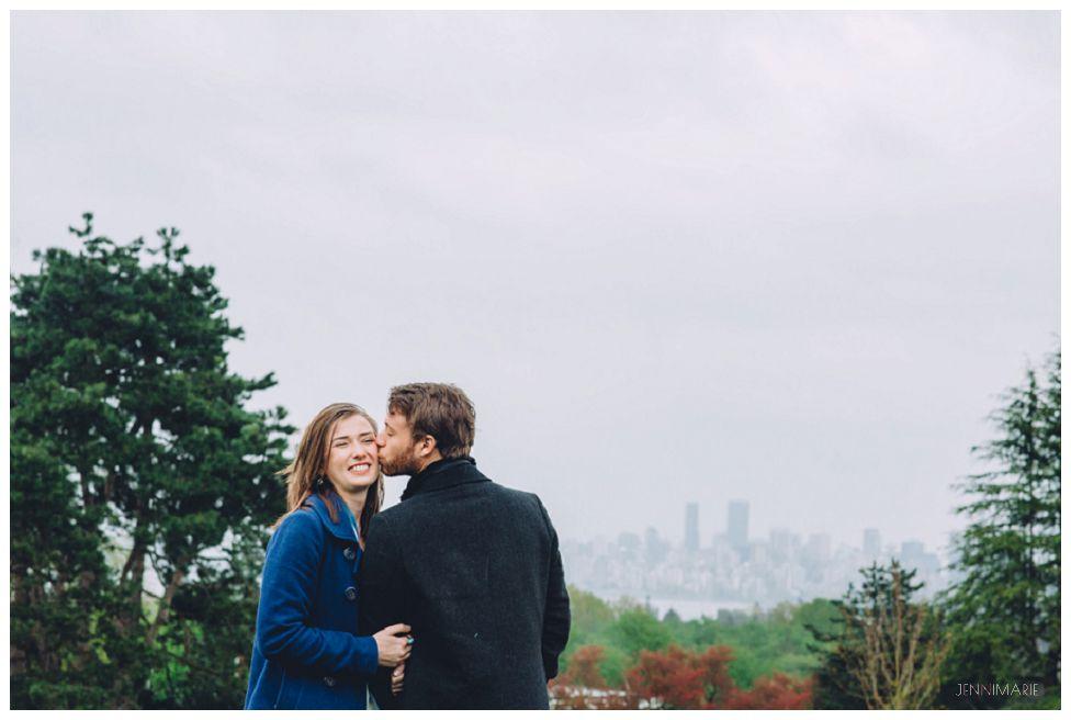 point grey park engagement photos