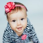 eight month baby portrait