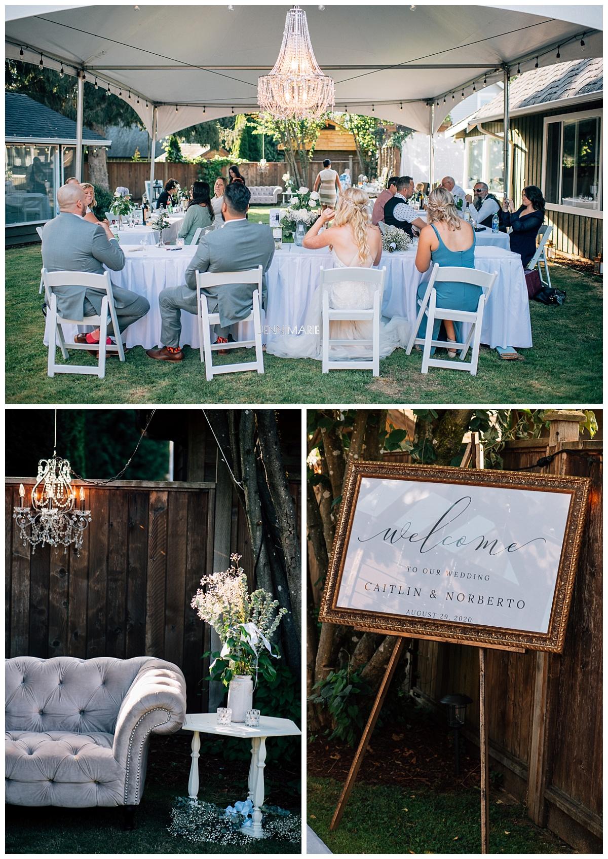 fort langley backyard wedding