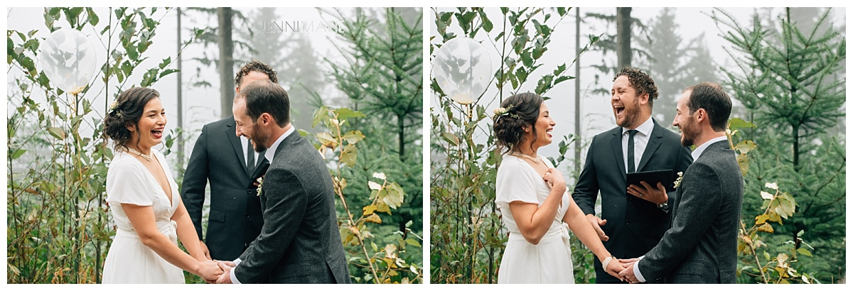 mountaintop microwedding with vancouver officiant