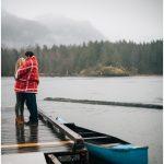 Pitt Lake Engagement Photos in the Rain