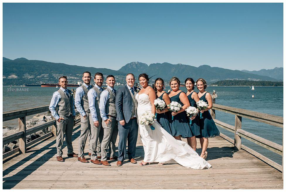 Jericho Beach wedding portrait