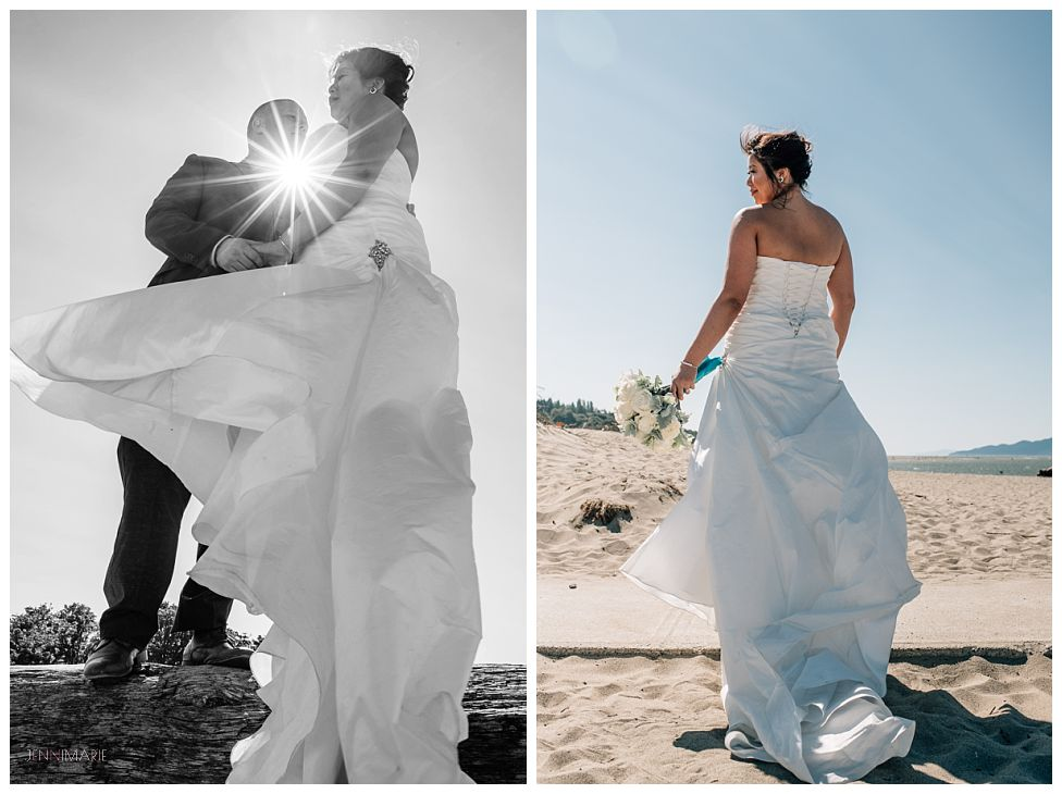 jericho beach wedding portraits