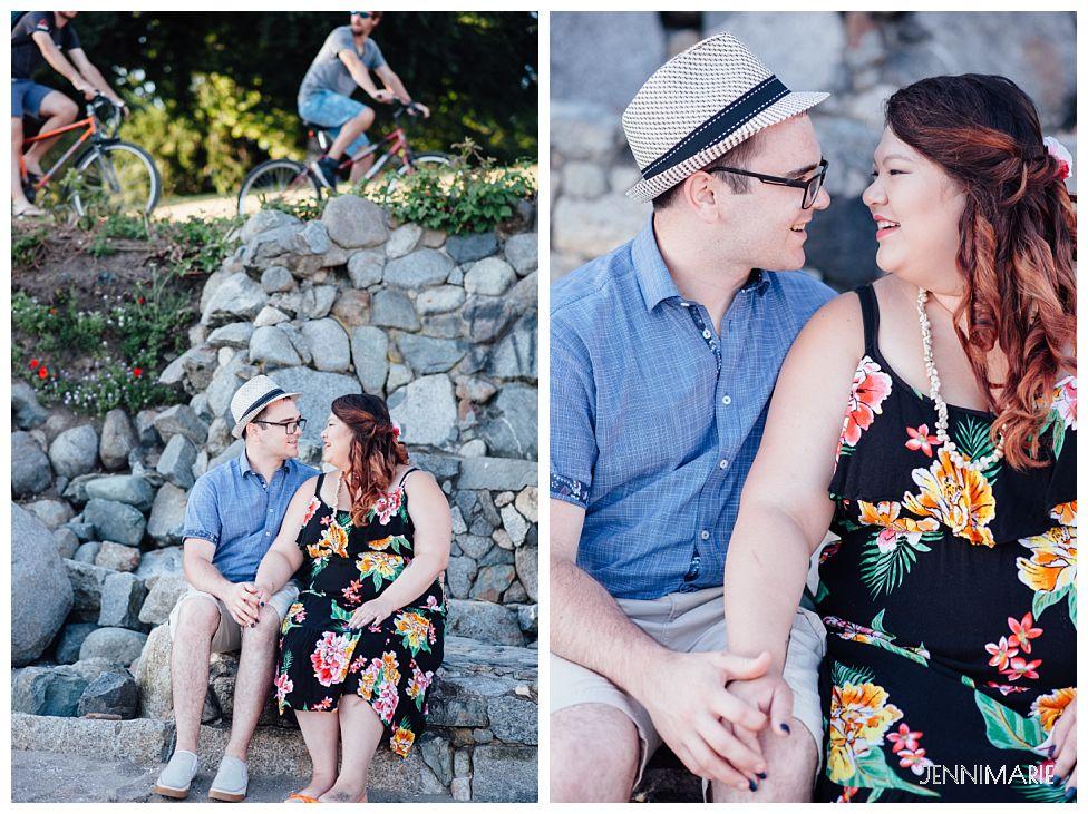 stanley park engagement photos